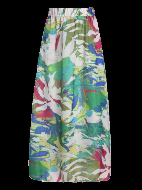 women Printed Chiffon Maxi Skirt - COLORMIX M Mobile