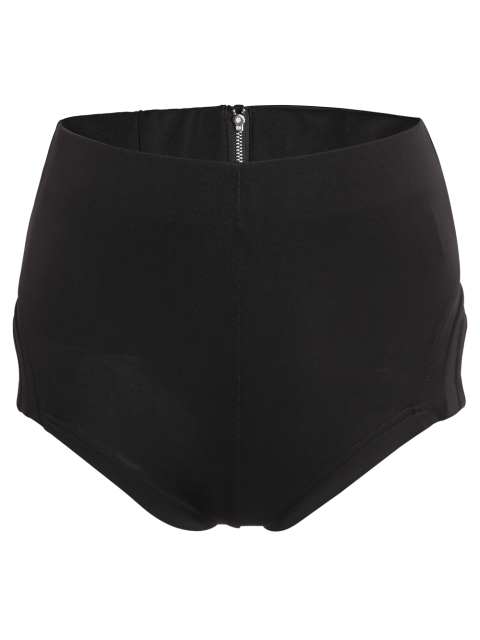 ladies High-Waisted Black Shorts - BLACK 2XL Mobile
