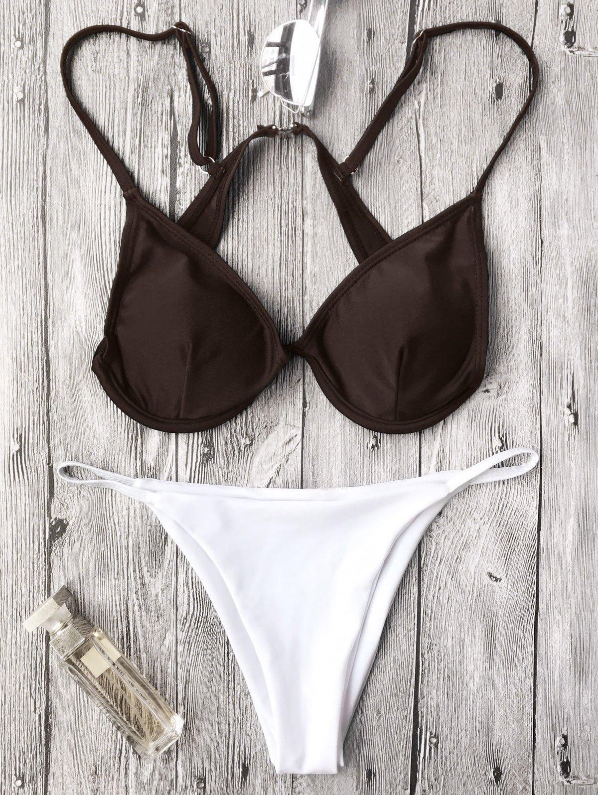 Push Up Plunge String Bikini Set 212654102