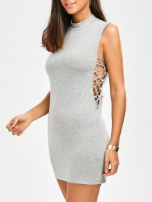 Tank Lace Up Bodycon Dress