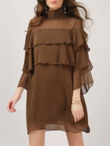 Layered Ruffles Casual Dress