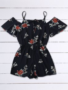 Cold Shoulder Floral Cami Playsuit