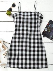 Vestido De Tirantes Con Espalda - Negro Blanco