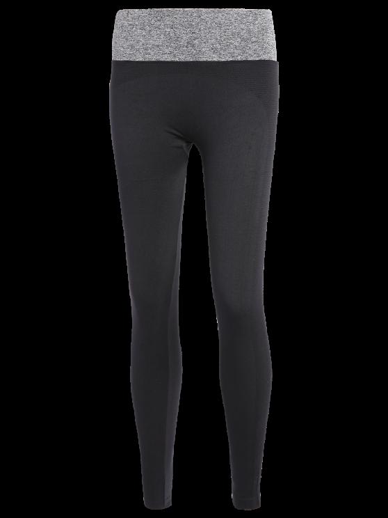Stretchy Yoga Leggings - GRAY L Mobile