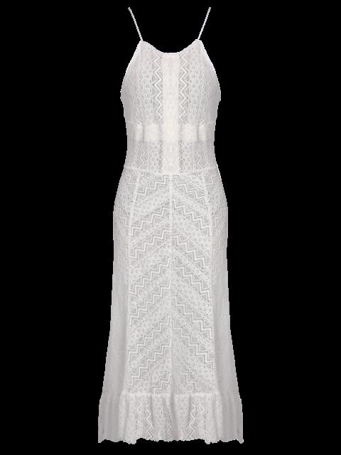 outfits Ruffles See Through Maxi Cami Dress - WHITE 2XL Mobile