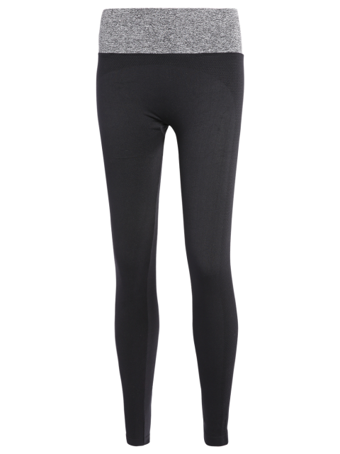 latest Stretchy Yoga Leggings - GRAY M Mobile