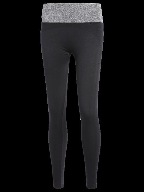 trendy Stretchy Yoga Leggings - GRAY S Mobile