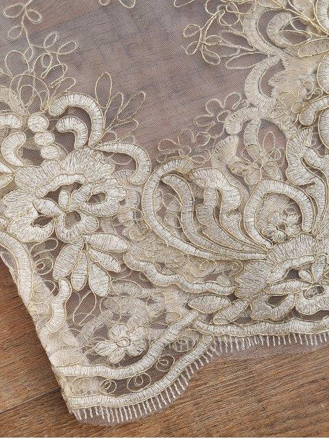 women Golden Thread Sheer Mesh Cover Up Top - GOLDEN ONE SIZE Mobile
