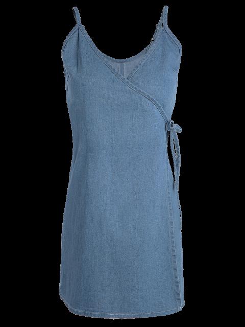chic Blue Cami A Line Denim Dress - BLUE L Mobile