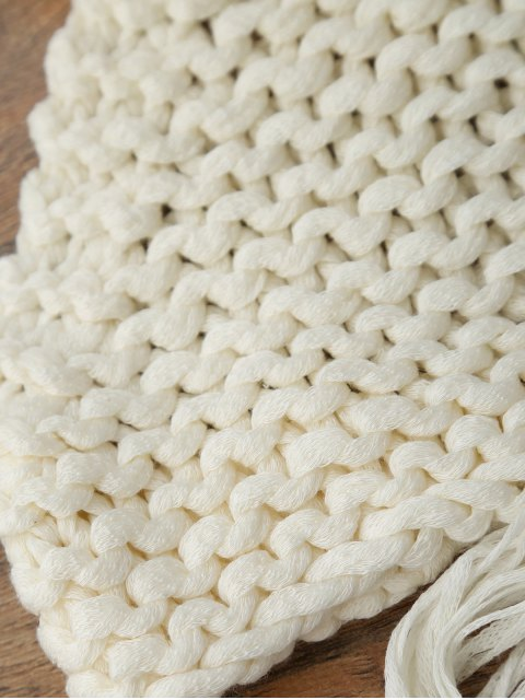 latest High Neck Crochet Crop Top - OFF-WHITE ONE SIZE Mobile