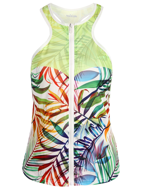 womens Racerback Sports Tank Top - LIGHT GREEN M Mobile