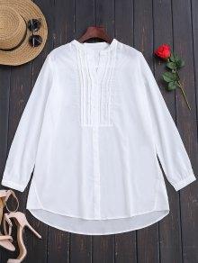 Longline Half-Buttoned Shirt