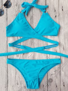 Low Cut Halter Wrap Bikini