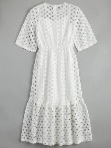 الجوف خارج الكشكشة اللباس مع تانك الأعلى - أبيض L