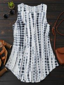 Tie-Dyed Trapeze Dress - White
