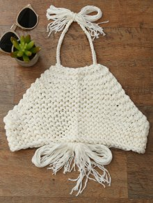 High Neck Crochet Crop Top