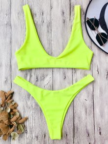 High Cut Scoop Bikini Set