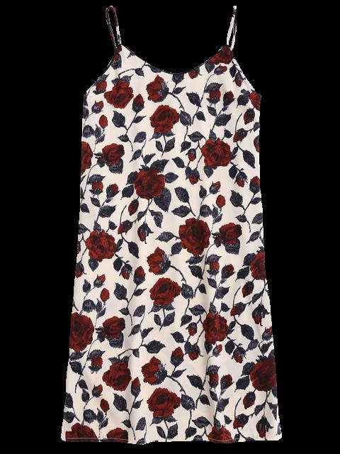 hot Slit Floral Casual Slip Dress - FLORAL S Mobile