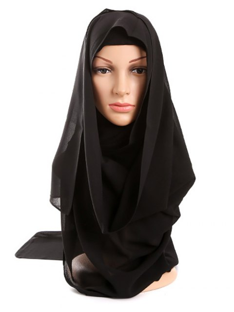 new Islamic Muslim Chiffon Gossamer Hijab Headscarf - BLACK  Mobile