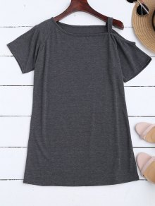 One Shoulder Longline T-Shirt