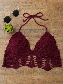 Halter Crochet Bralette Swim Top