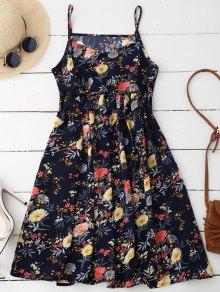 Cami Floral Smock Dress - Deep Blue Xl