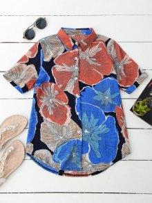 Floral Beach Shirt - L