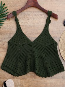 Laser Cut Crochet Tank Cover Up