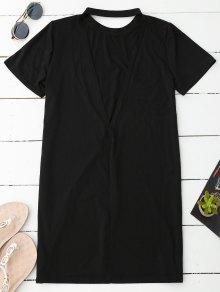 Backless T-Shirt Dress