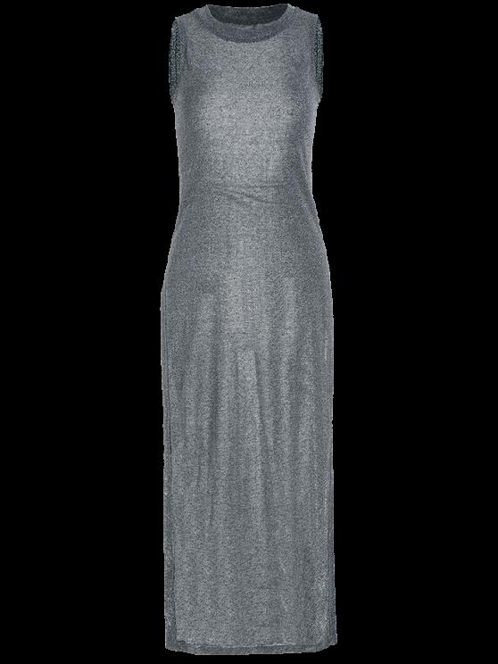 Sleeveless High Slit Club Dress - FROST S Mobile