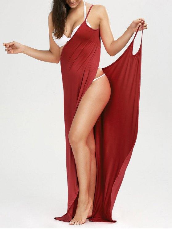 Robe de plage longue style wrap - Clairet XL