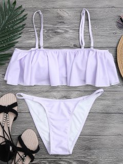 Flutter Off The Shoulder Bikini Set - Purple M