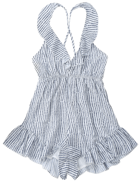 unique Polka Dot Ruffles Romper - COLORMIX S Mobile