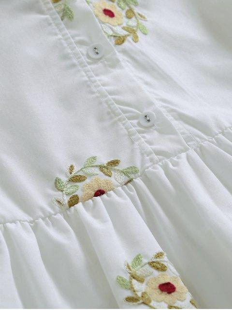 Robe à manches courtes - Blanc S Mobile