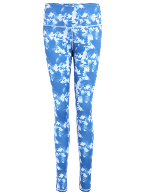 shop Skinny Tie-Dyed Sporty Leggings - SKY BLUE S Mobile