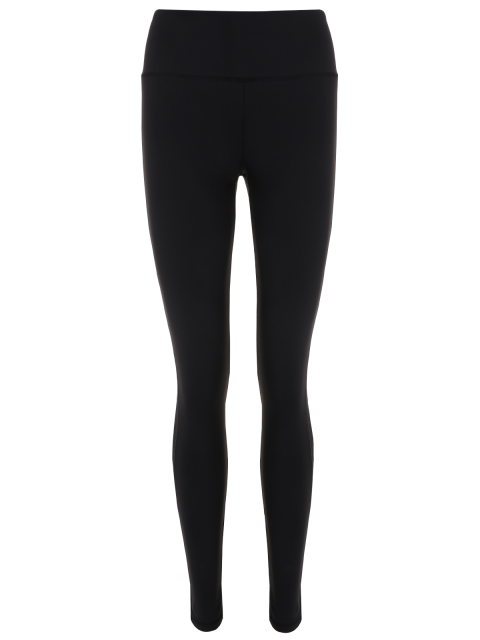 chic Skinny Mesh Panel Sporty Leggings - BLACK M Mobile