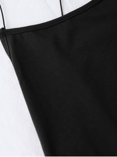 buy Backless Criss Cross Bodysuit - BLACK ONE SIZE Mobile