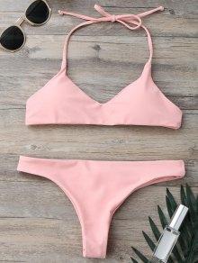 Padded Halter Thong Bathing Suit