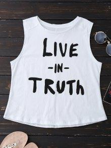 Camiseta sin mangas de algodón