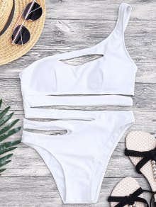 Bandage Asymmetric One Piece Monokini Swimsuit