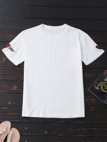 Loose Cotton Embroidered T-Shirt