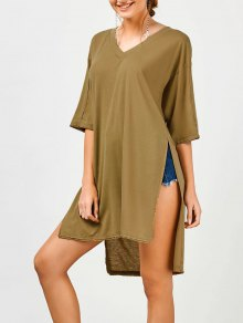 High Slit High Low Tunic Tee