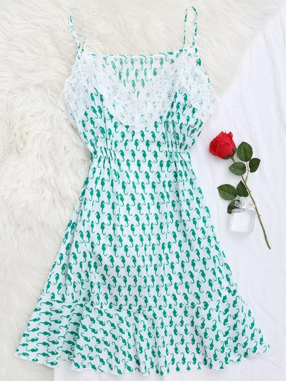 Vestido para dormir de caballito de mar - Verde M