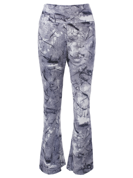 Slimming Boot Cut Pants With Chinese Painting - COLORMIX L Mobile