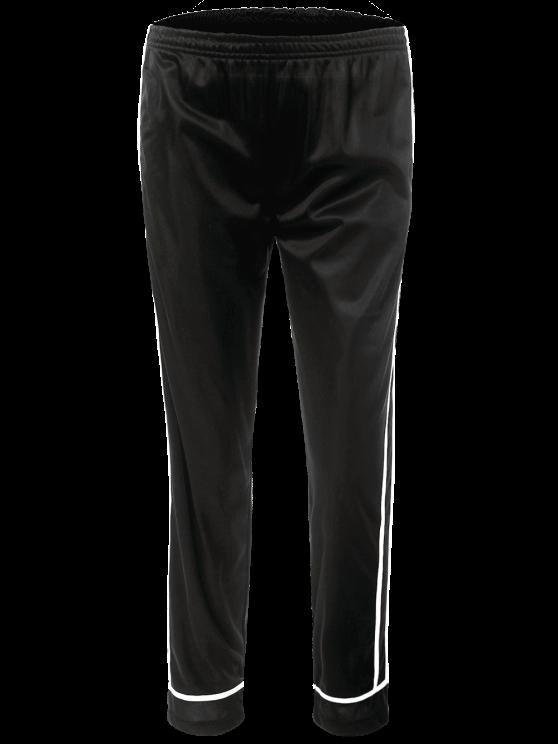 Stripes Track Pants - BLACK M Mobile