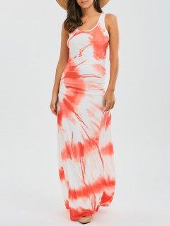 Racerback Tie Dyed Maxi Dress - Jacinth S
