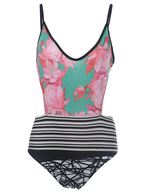 outfit Printed Sexy One Piece Swimwear - COLORMIX M Mobile