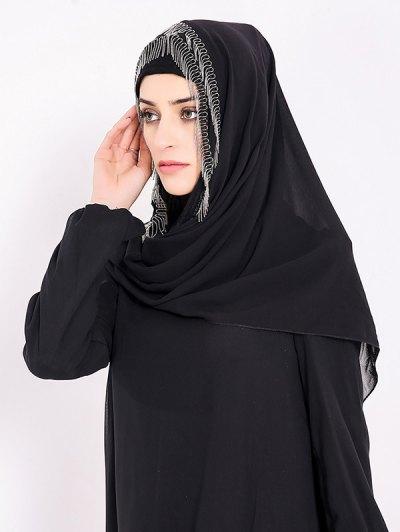 Chiffon Muslim Gossamer Metal Fringed Hijab Headscarf от Zaful.com INT
