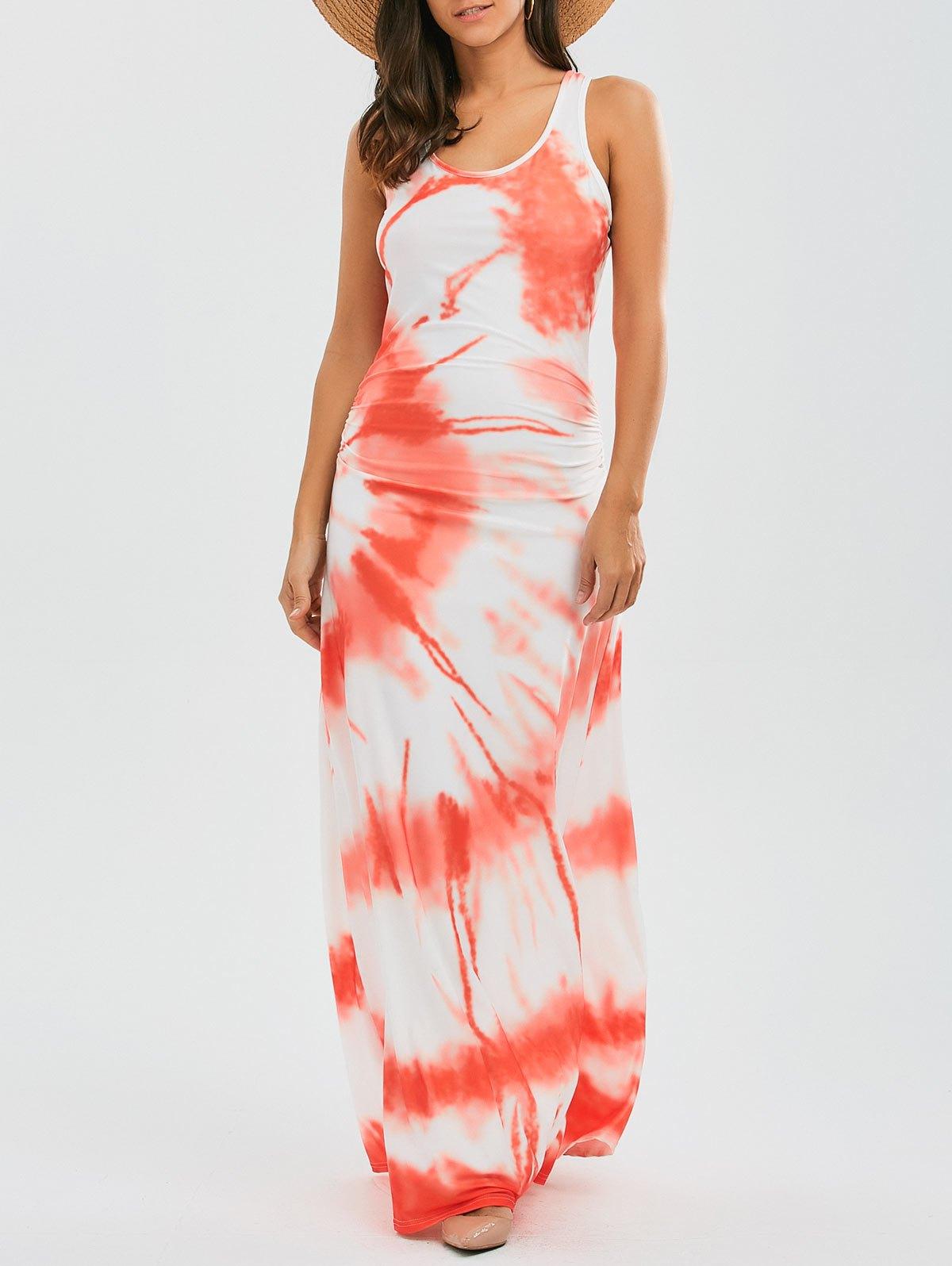 Racerback Tie Dyed Maxi Dress от Zaful.com INT