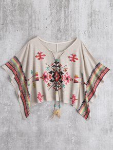 Oversized Cape Jacquard Blouse